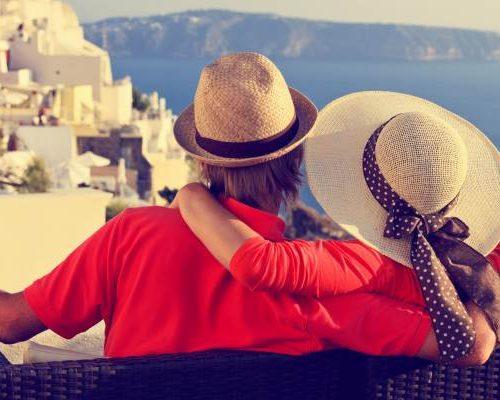 Cocktails drinken op Santorini