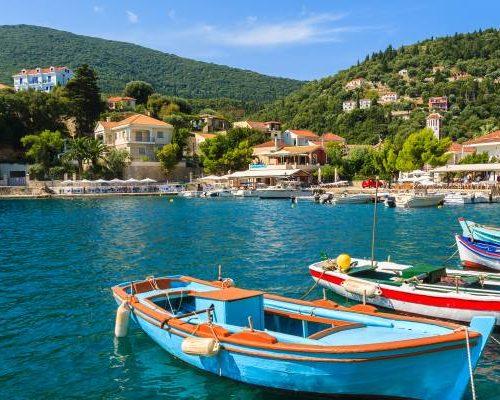 Griekse eilanden in de Ionische Zee